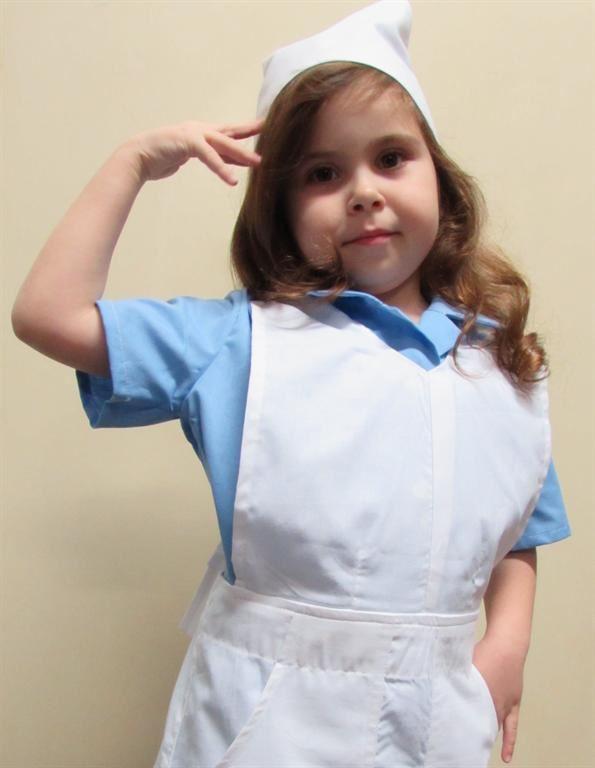 Sestřička kostým - zástěrka sesterská dětská - pracovní oděvy na ... 47834afdc91